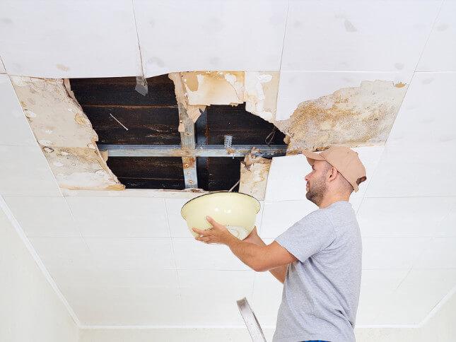 Wet Spot Ceiling Roof Leak